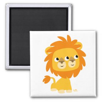 Two-Faced the cuttest cartoon lion magnet magnet