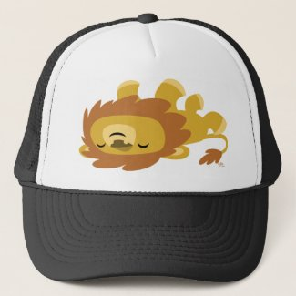 Cute Cartoon Lazy Lion Trucker Hat hat