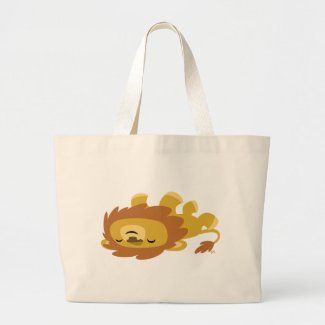 Cute Cartoon Lazy Lion Bag bag