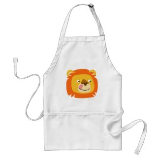 Lion Says Yummy!! cartoon cooking apron apron