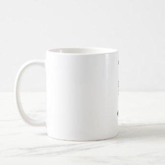 Chasing the postman mug mug