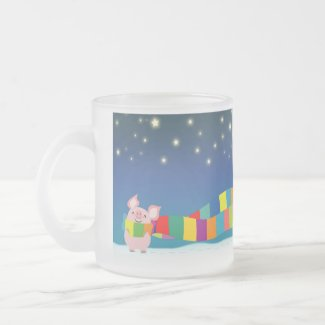 Little Pig's Christmas mug mug