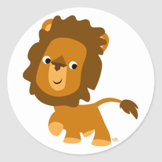 Cartoon Content Lion sticker sticker