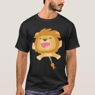 Cartoon Pouncing Lion T-shirt shirt