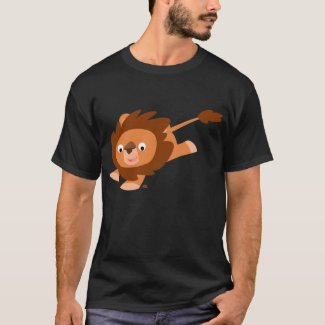 Lively Cartoon Lion T-shirt shirt