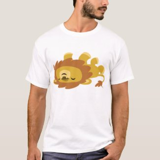 Cute Cartoon Lazy Lion T-shirt shirt