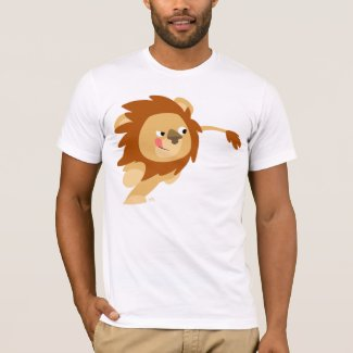 Galloping Cartoon Lion T-shirt shirt