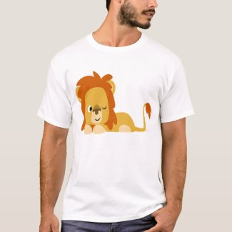 Awake Cartoon Lion T-shirt shirt
