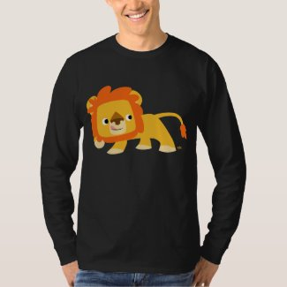 Mischievous Cartoon Lion long-sleeve T-shirt shirt