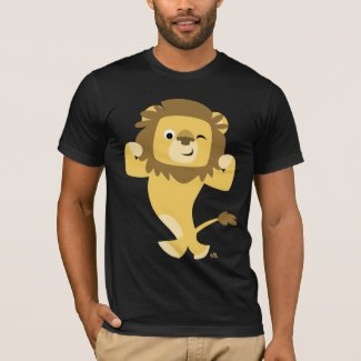 Strong Cartoon Lion T-shirt shirt