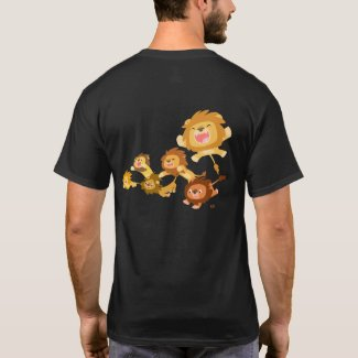Cartoon Lions' Parade T-shirt (back) shirt