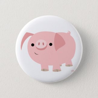Cute piggy button badge