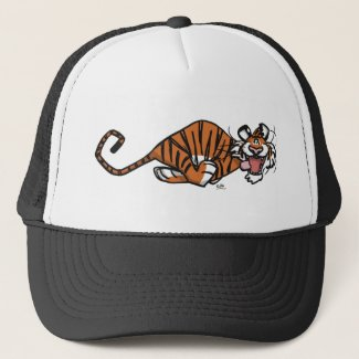 Cartoon Running Tiger hat hat