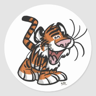 Lil'Tiger sticker sticker