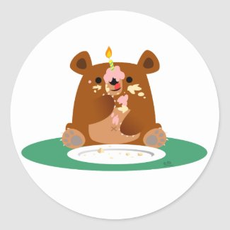 Happy Birthday, little bear!! sticker