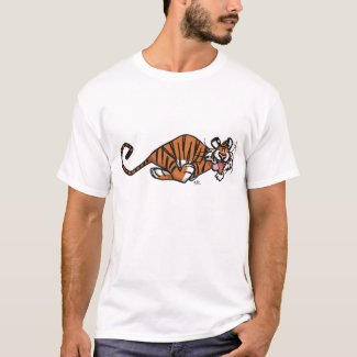 Cartoon Running Tiger T-shirt shirt