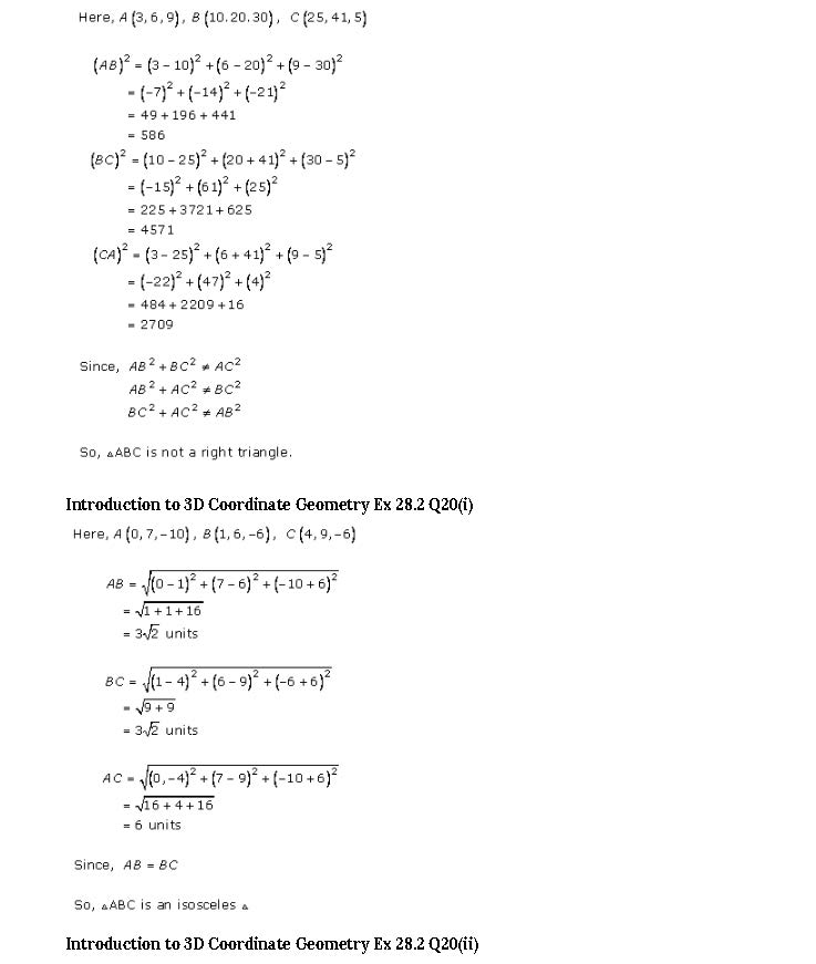 RD Sharma Class 11 Solutions Chapter 28 Introduction To 3D