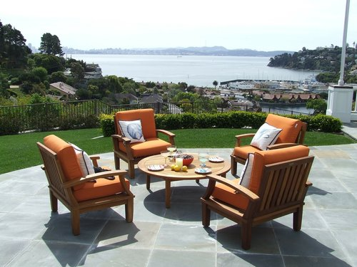 Transitional living usually has some form of outdoor seating. At least we do!