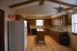 Kitchen at our sober living in NE Dallas.