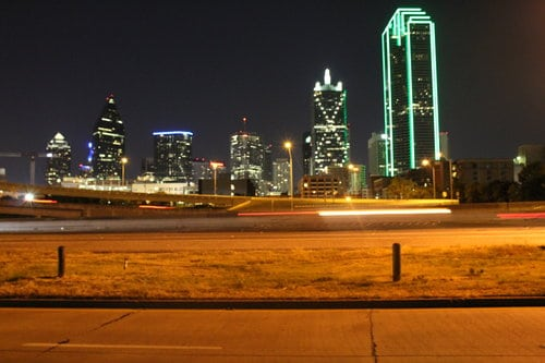 Dallas skyline. Dallas is home to awesome halfway houses.