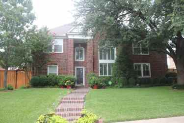 The front of our plano sober living home
