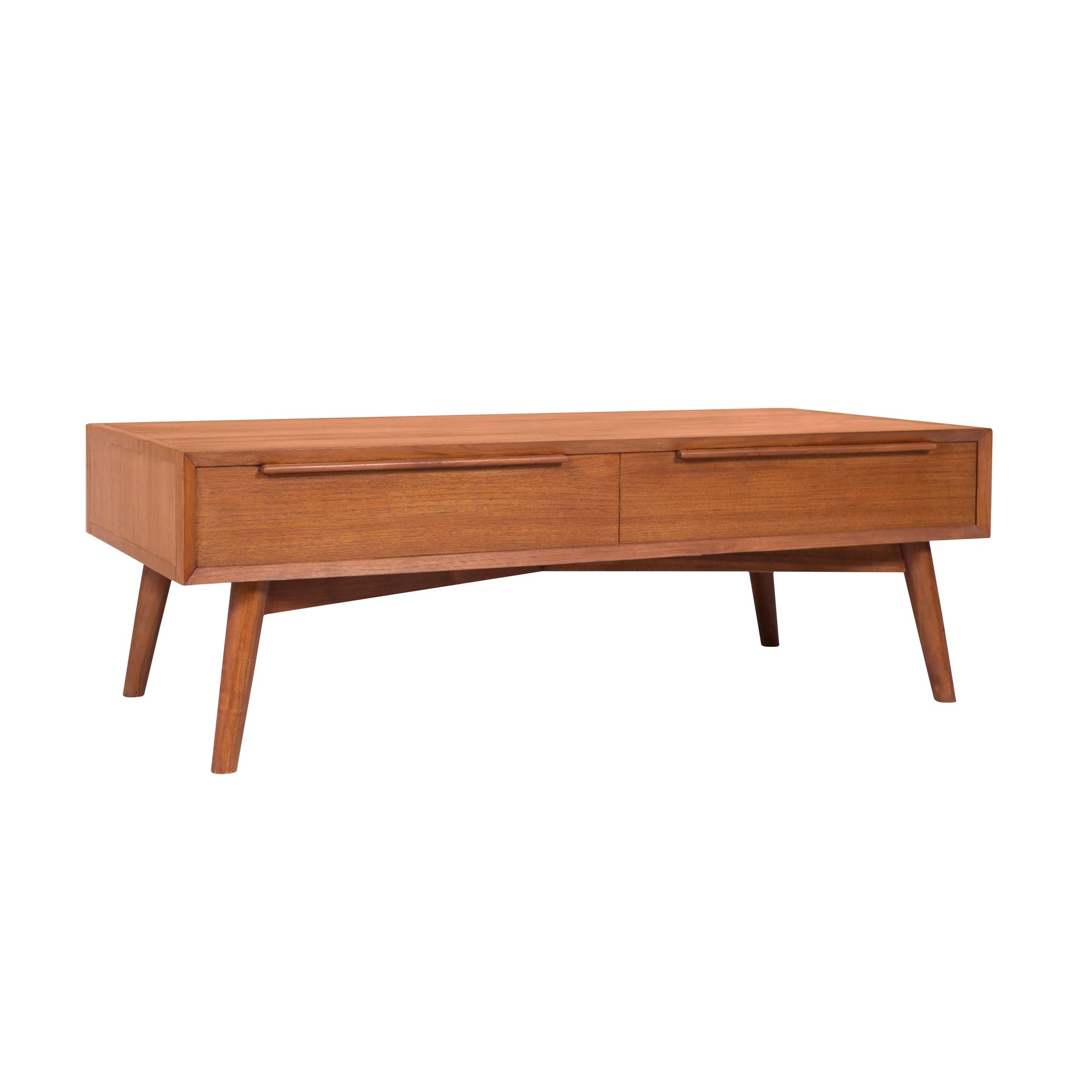 table basse waya 2 tiroirs en teck