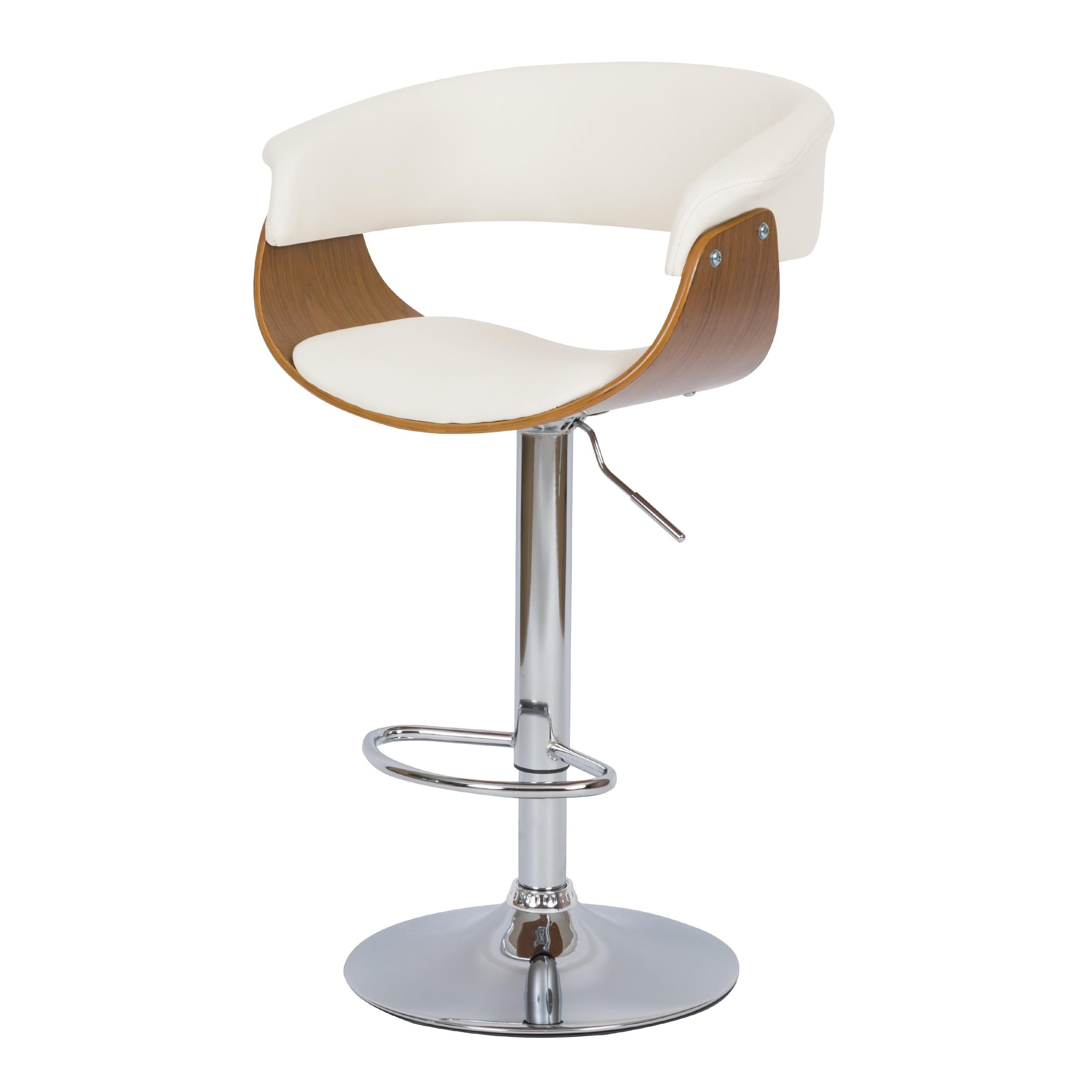 chaise de bar blanche basile avec accoudoirs 55 5 81 cm