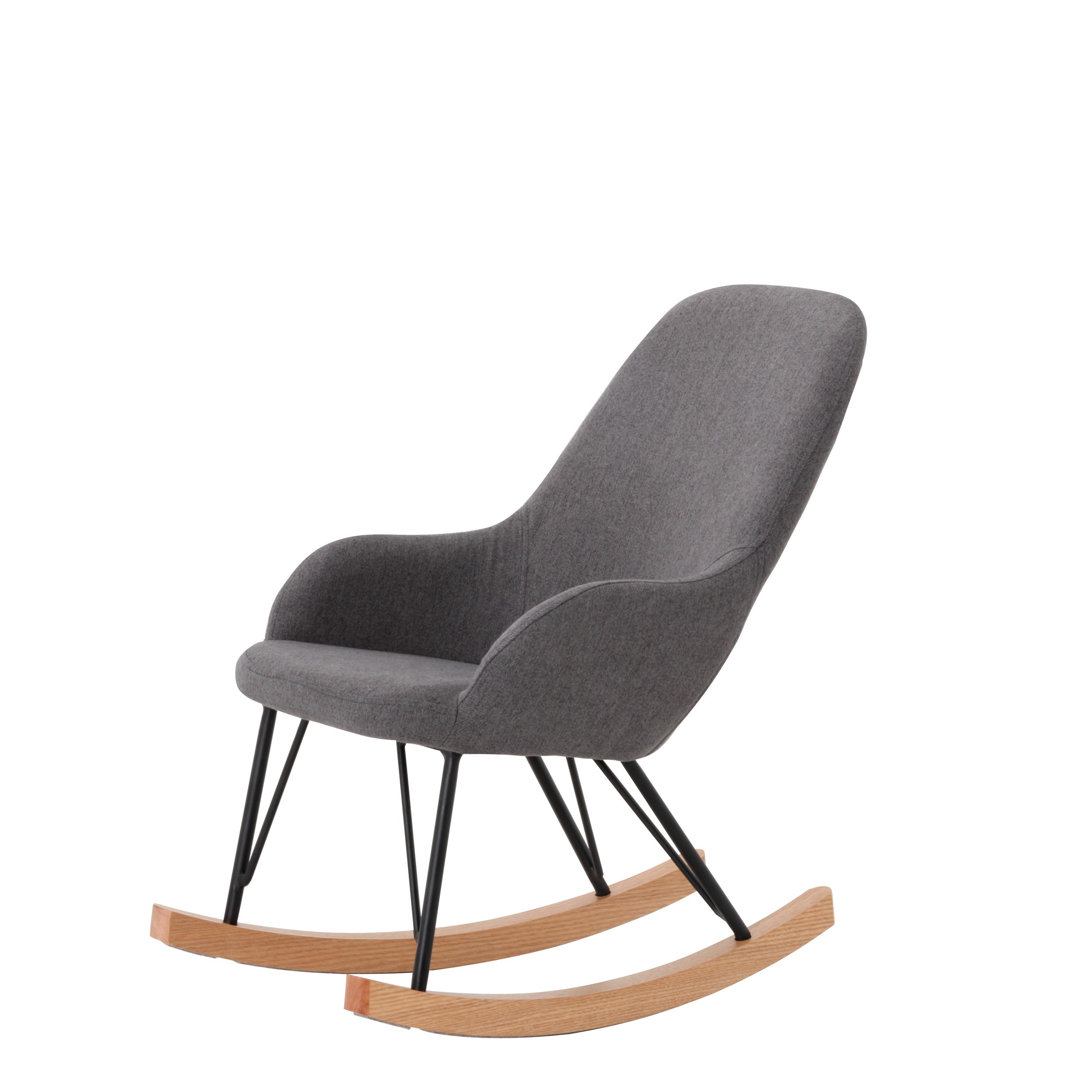 rocking chair malibu gris fonce enfant