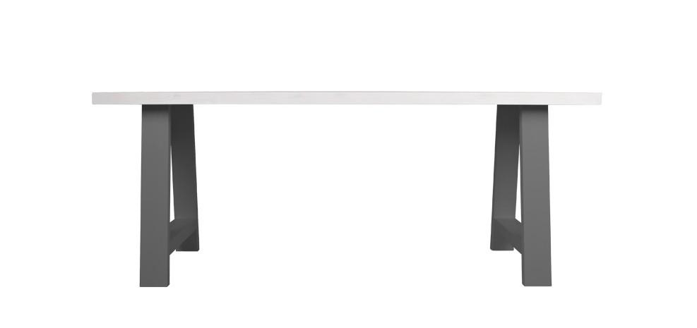 table 180 cm landes bicolore grise et blanche
