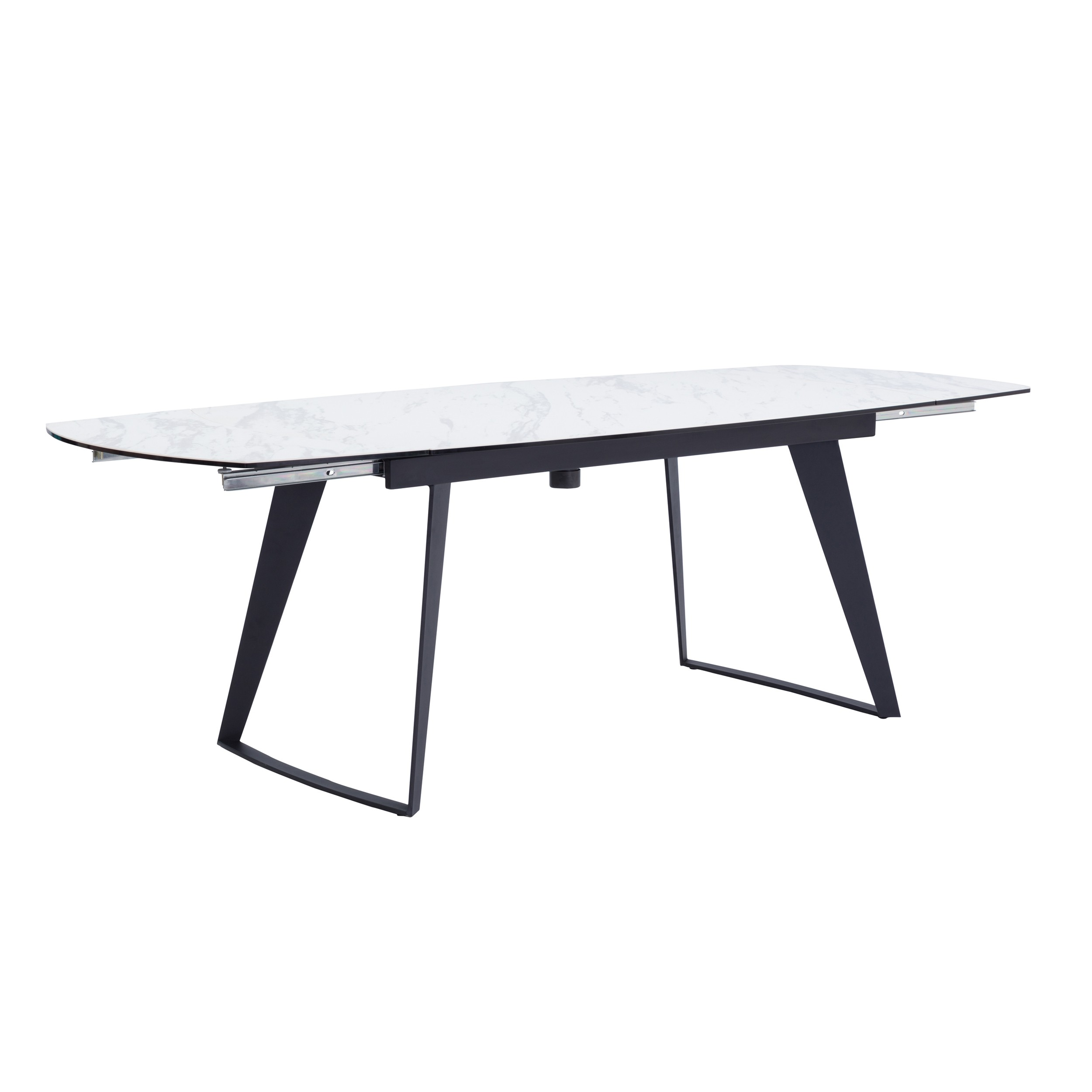 table extensible rectangulaire donna blanche 160 230cm