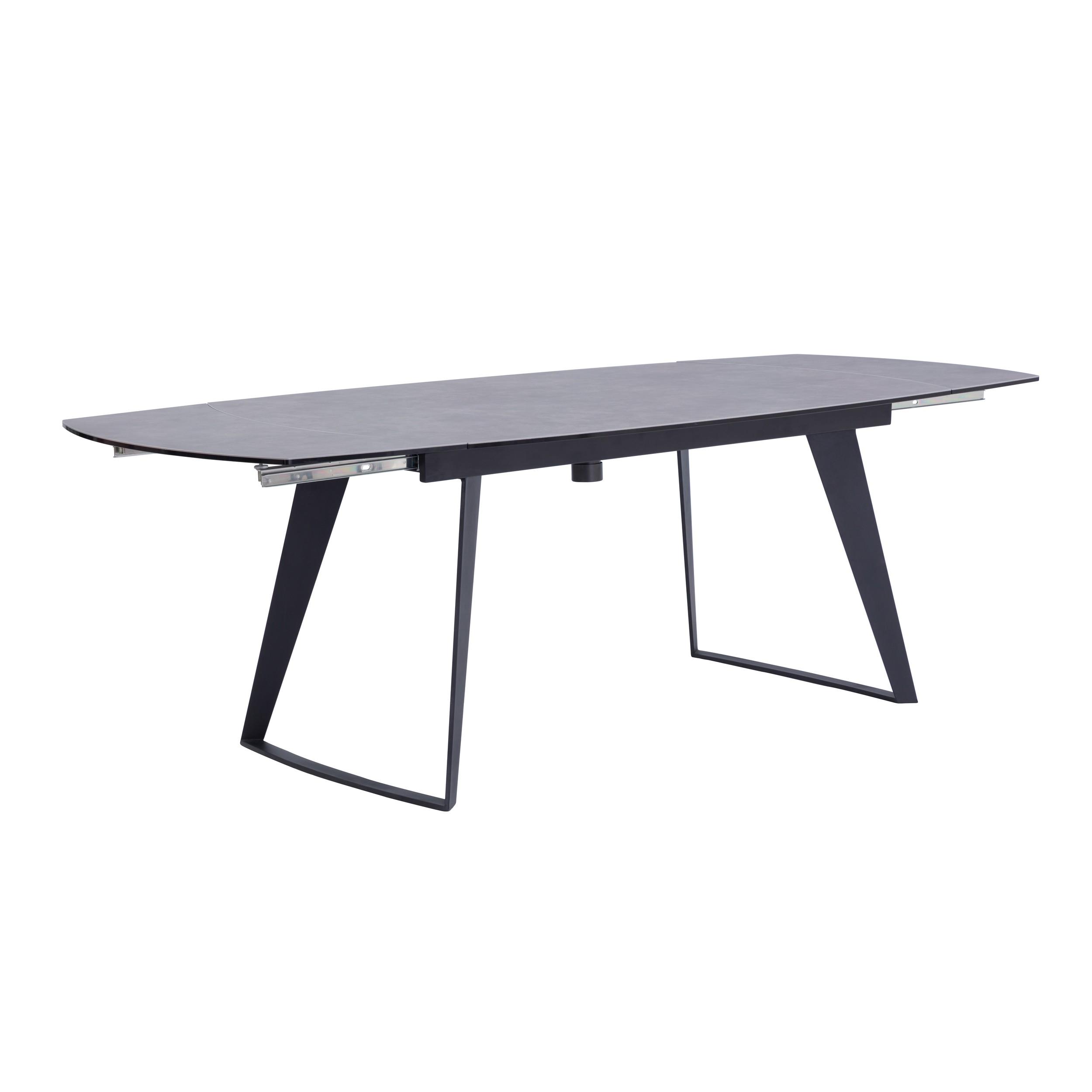 table extensible rectangulaire donna gris fonce 160 230cm