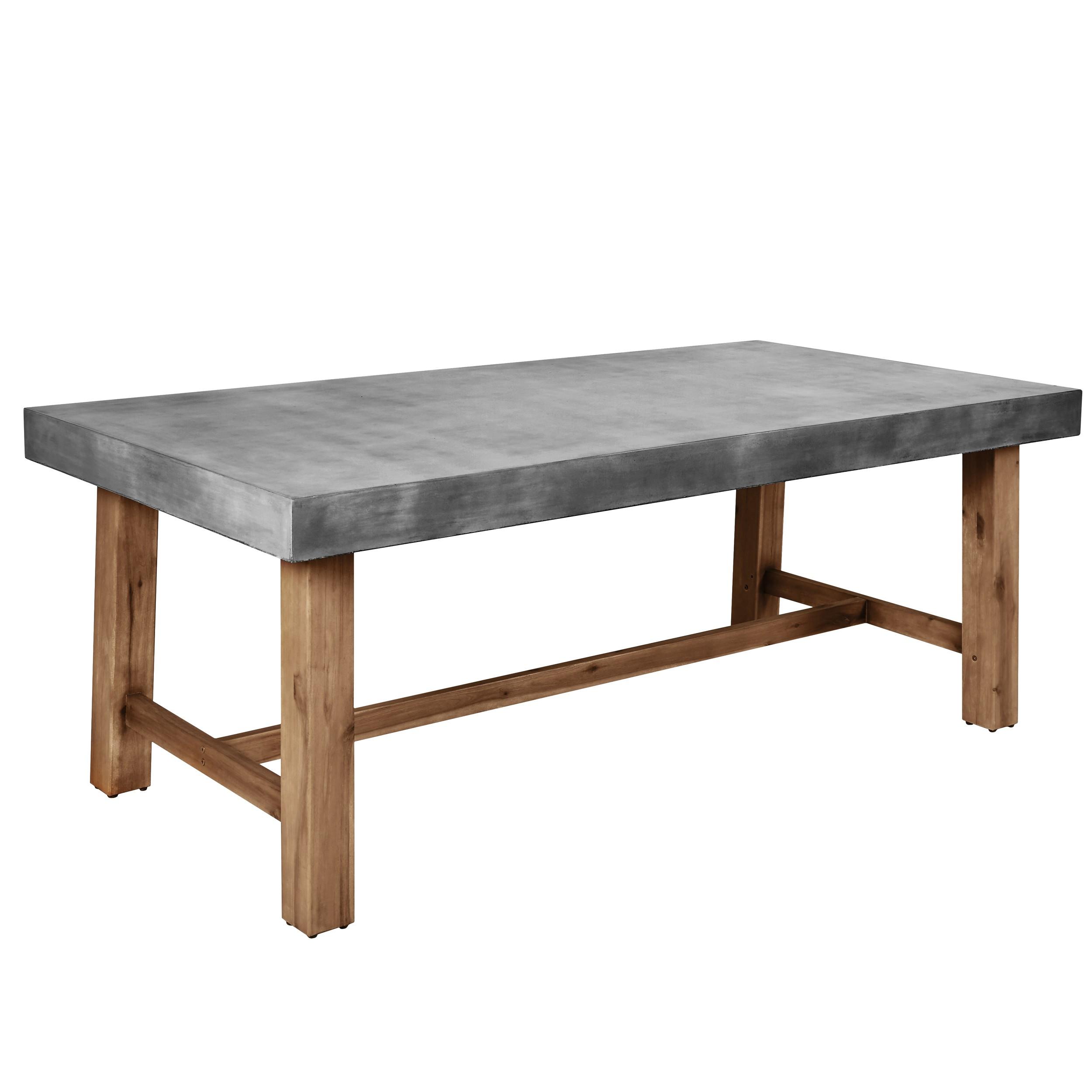table rectangulaire birdie 200 cm en beton