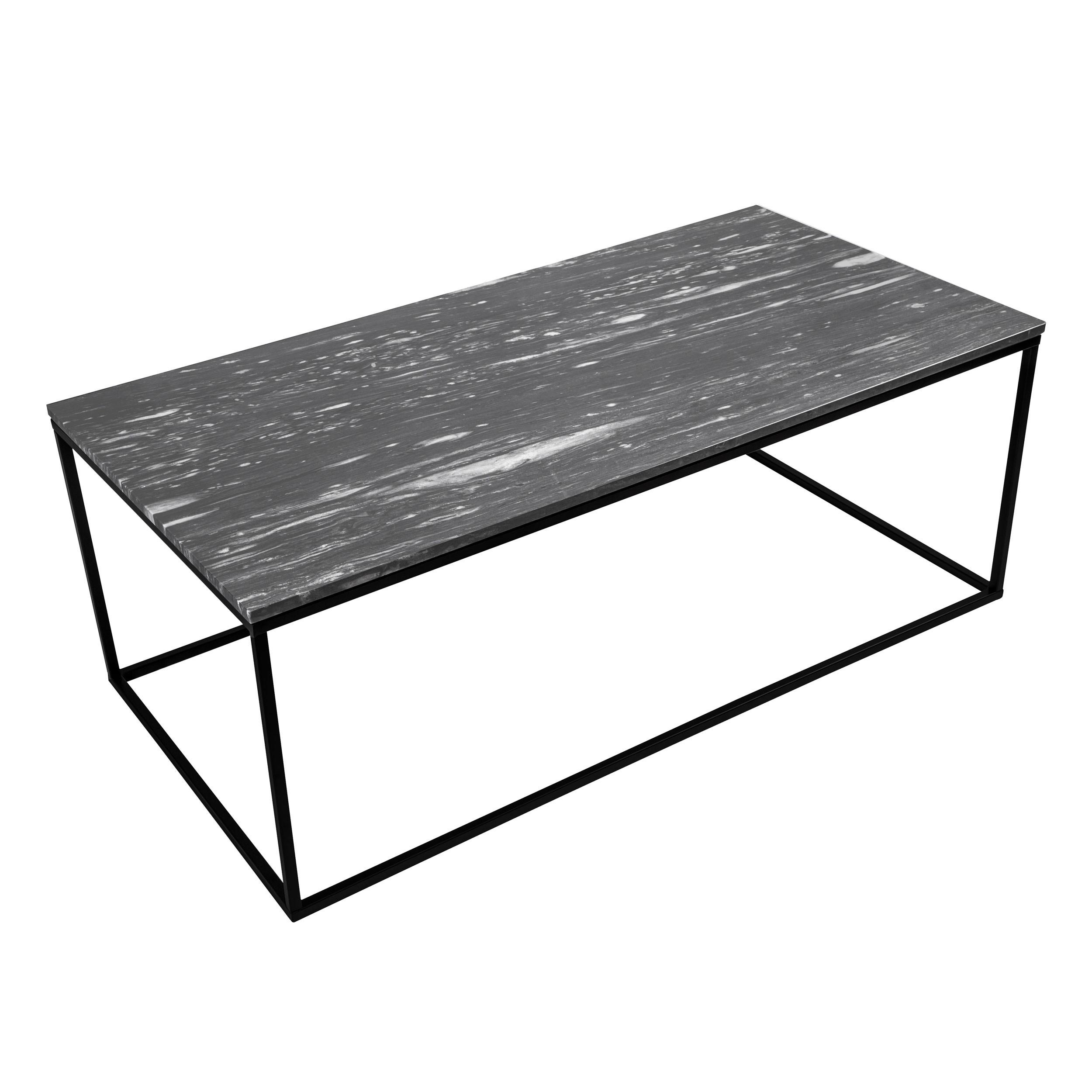 table basse rectangulaire dagmar marbre noire