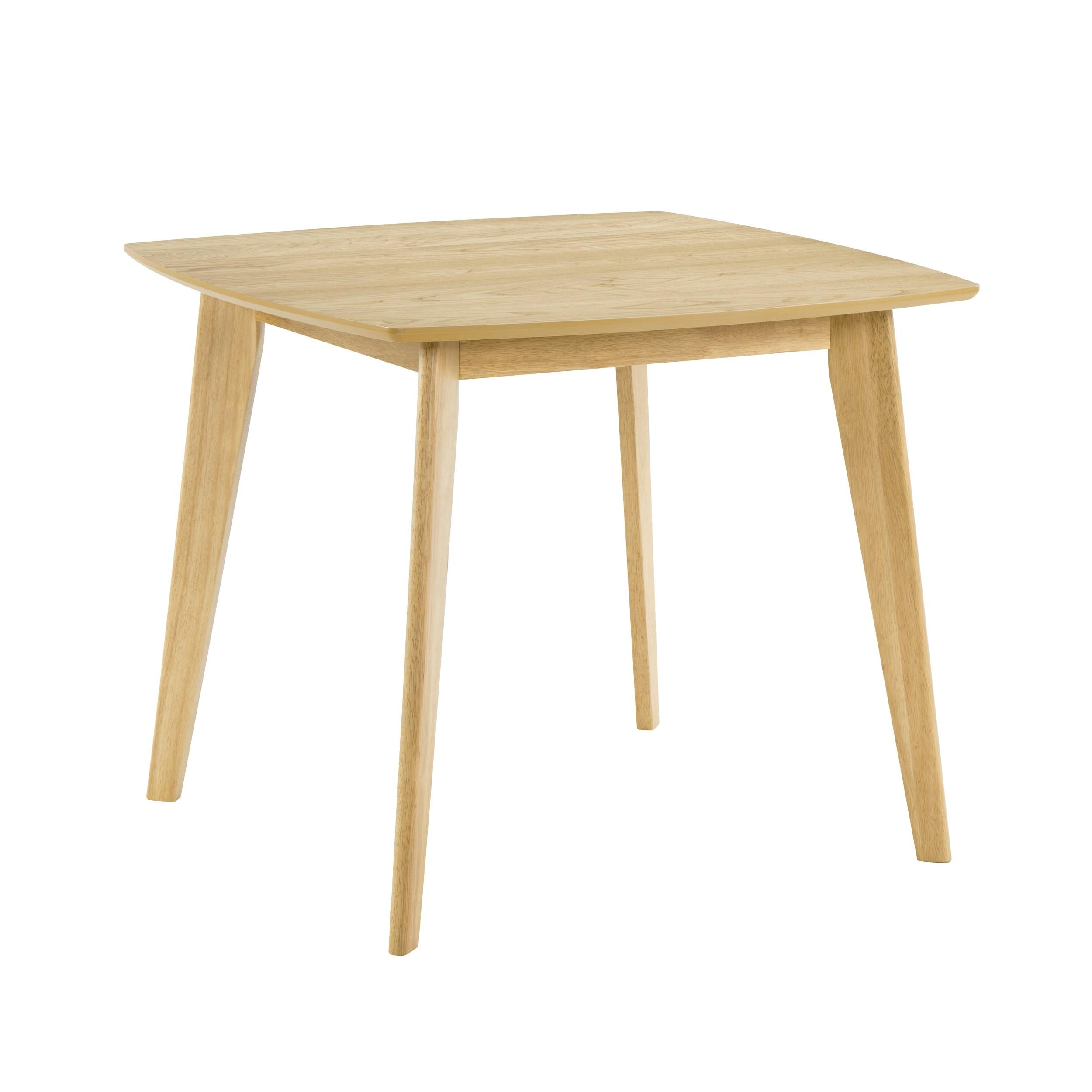 table carree julio 90 cm en bois clair
