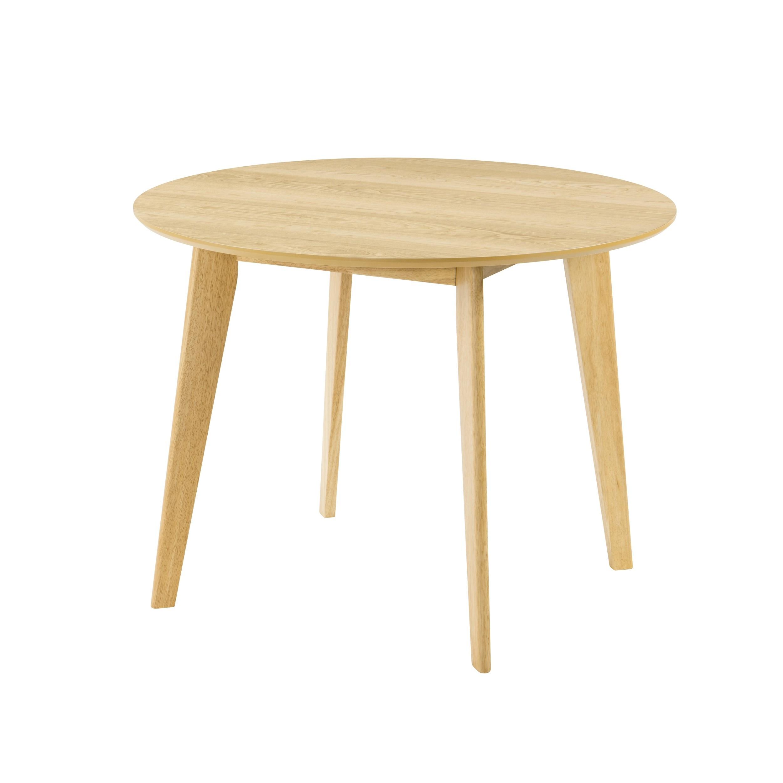 table ronde reno o100 cm en bois clair