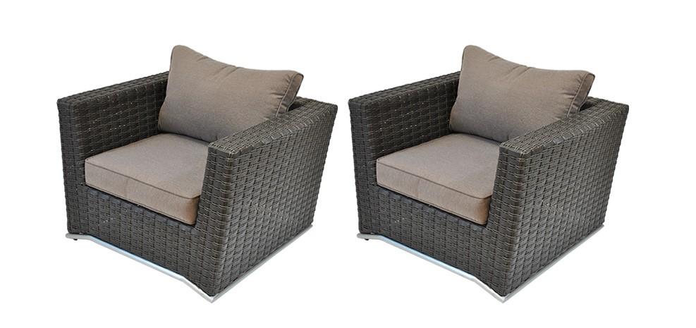 fauteuil malaga lot de 2