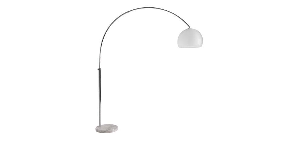 lampadaire bow blanc