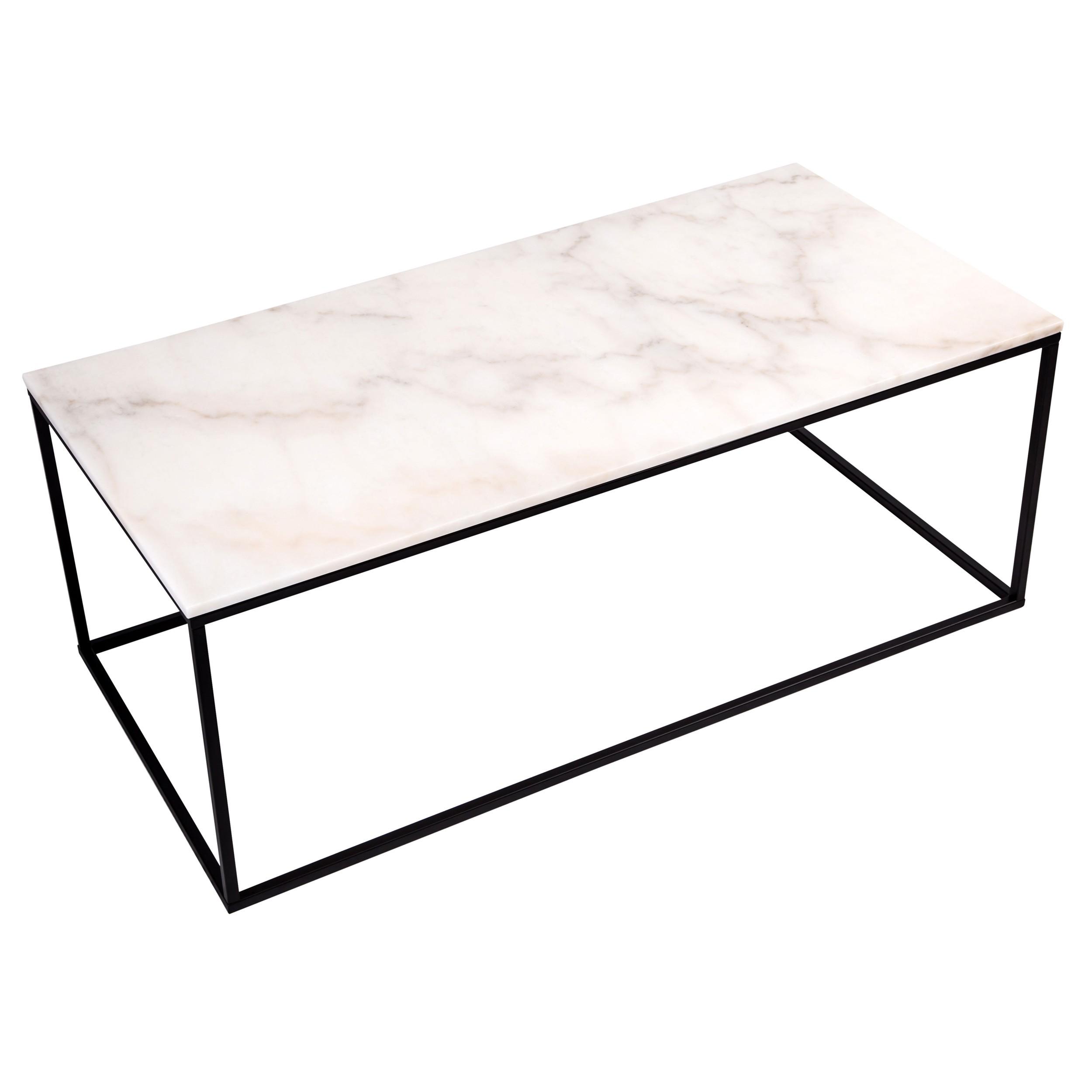 table basse rectangulaire dagmar marbre blanche
