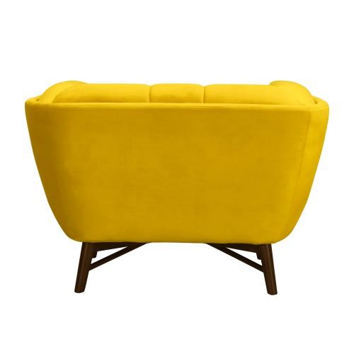 fauteuil moya en velours jaune