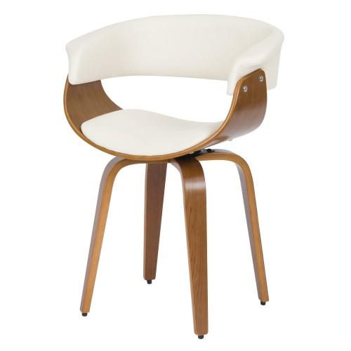 chaise blanche basile avec accoudoirs