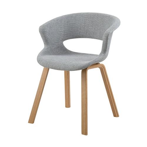 chaise viking en tissu gris clair