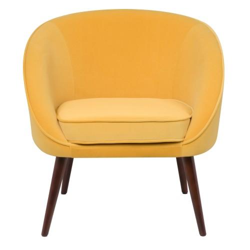 fauteuil nala en velours jaune
