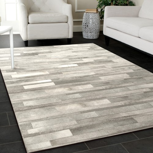 tapis cuir vivek gris 160x230 cm