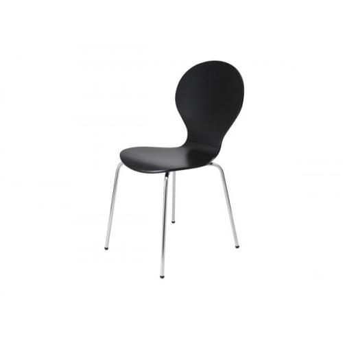 chaise abiel noire lot de 2