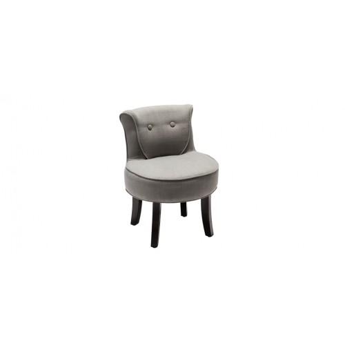 petit fauteuil crapaud lin gris clair