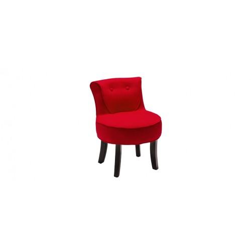 petit fauteuil crapaud lin rouge