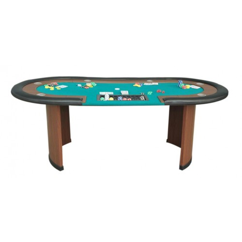 table de poker pro tapis vert