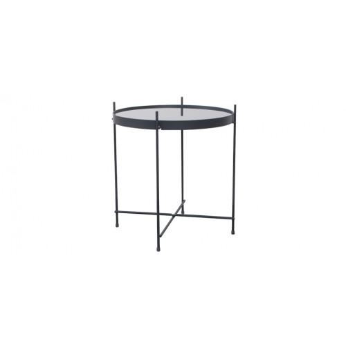 table basse en metal valdo gris