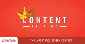 Content is king illustration - the importance of new content
