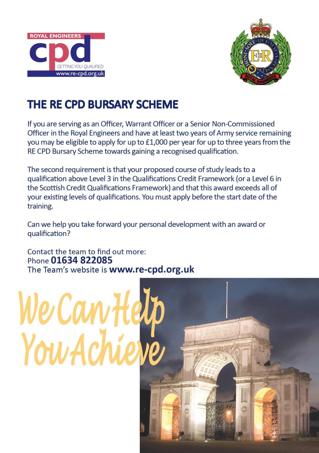 The RE CPD Bursary Scheme